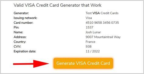 It includes mastercard, american express, visa, discover, jcb, etc. VISA Credit Card Generator, 100% Free Fake VISA CC Numbers that Work