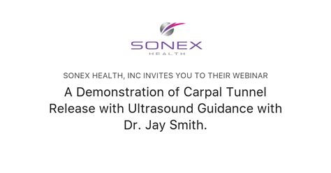 A Demonstration of Carpal Tunnel Release with Ultrasound ...