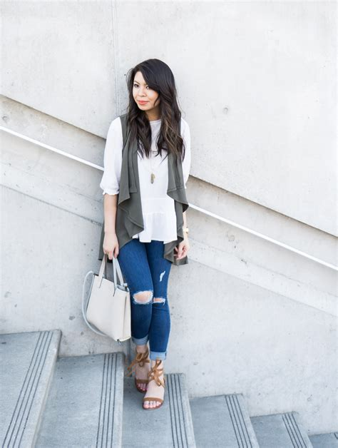 Casual Outfit with Waterfall Cardigan | Just A Tina Bit