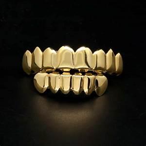 Premium 14K Gold Grillz - 8 Tooth - Deez Grillz