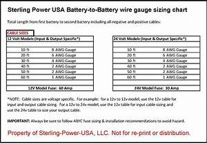 Sterling Power Dc Input 12v To 24v Battery Charging