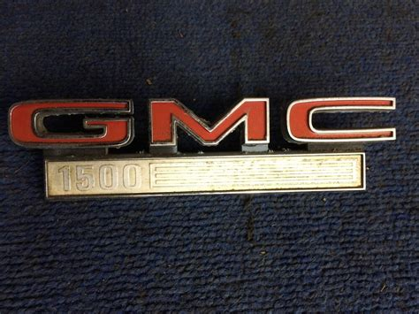 Vintage Gmc 1500 Tailgate Emblem Badge Gm 646067