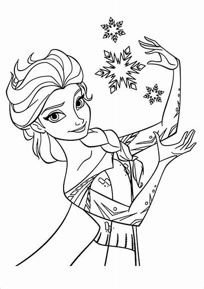 Princess Colouring Coloring Pages Template Elsa Templates
