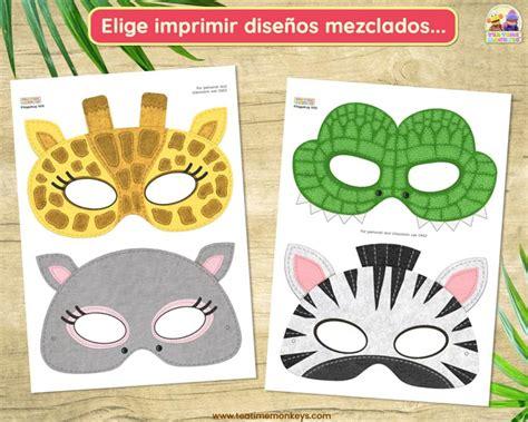 Animales de la Selva: Máscaras para Imprimir Tea Time