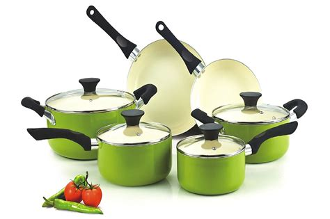 cookware nonstick ceramic cook sets ten coating piece nc