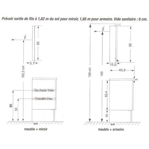 meuble bas cuisine 40 cm profondeur meuble salle de bain quelle hauteur