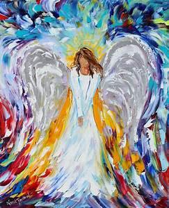 Original oil ANGEL PALETTE KNiFE painting modern ...