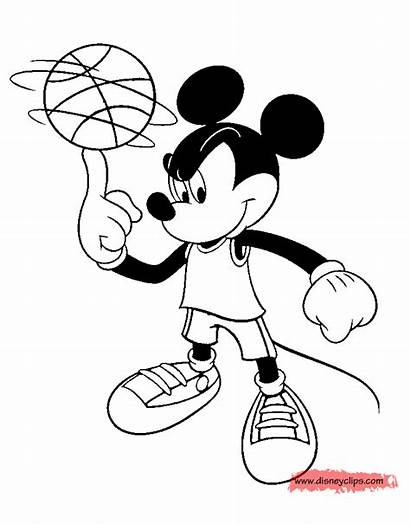 Mickey Coloring Mouse Basketball Spinning