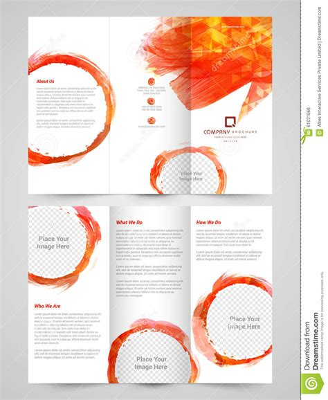 4 sided brochure template abstract business trifold brochure template or flyer