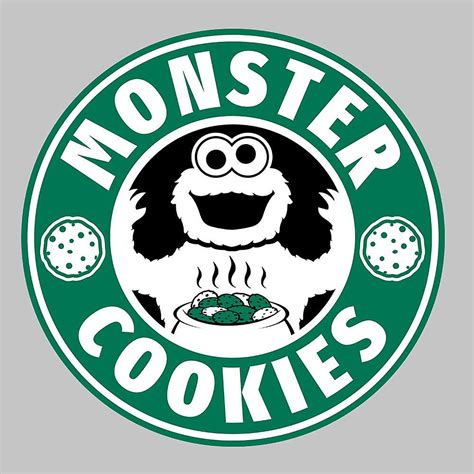 monster cookies starbucks logo herren weste fruugo