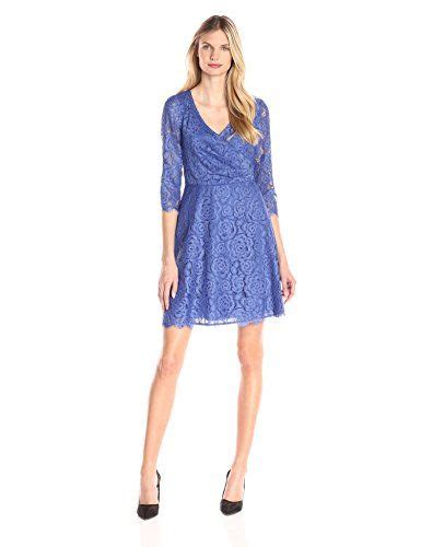 Adrianna Papell Pleated Wrap A-line Dress in Marine ...