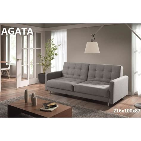 but canapé convertible 3 places agata canapé 3 places convertible lit gris achat vente