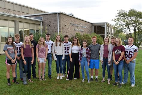 shenandoah community school district fall homecoming court