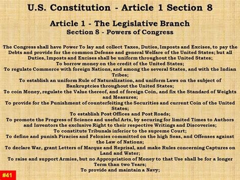 us constitution article 1 section 8 slipcovers for chair and a half and ottoman chair and a