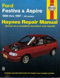 1997 Ford Aspire Owners Manual