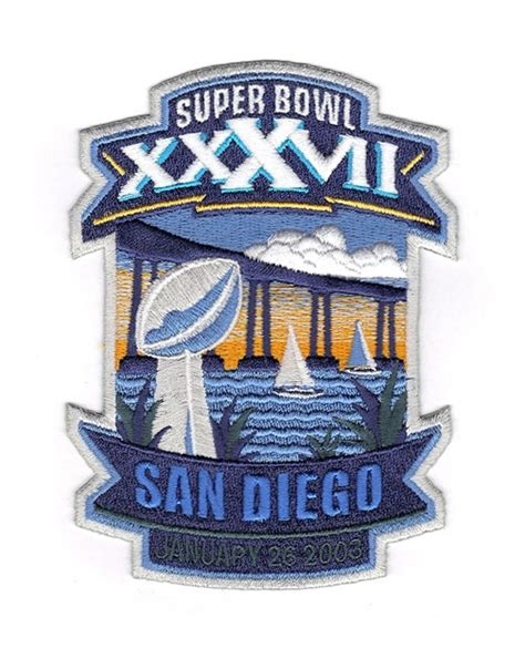 2003 Nfl Super Bowl Xxxvii Logo Willabee And Ward Patch