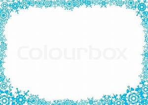 Snowflakes. A white background for a card (letter). A ...