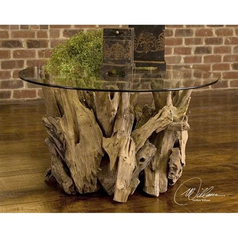 Uttermost Glass Coffee Tables by Uttermost Driftwood Glass Coffee Table In 25519