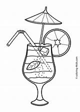 Summer Coloring Pages Printable Cocktail Colouring Drinks Drawing 4kids Season Seasons Sheets Cocktails Clip Fun Getdrawings Beach Coctail Fruit Sketch sketch template