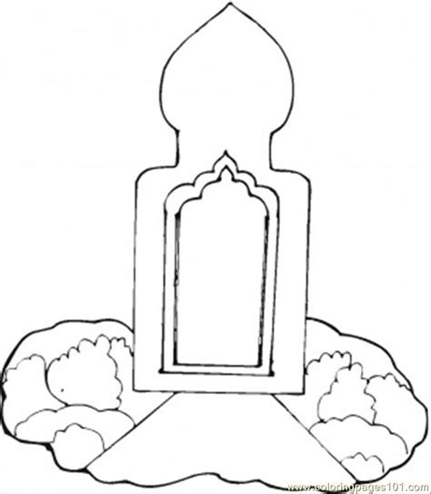 mosque coloring page  buildings coloring pages