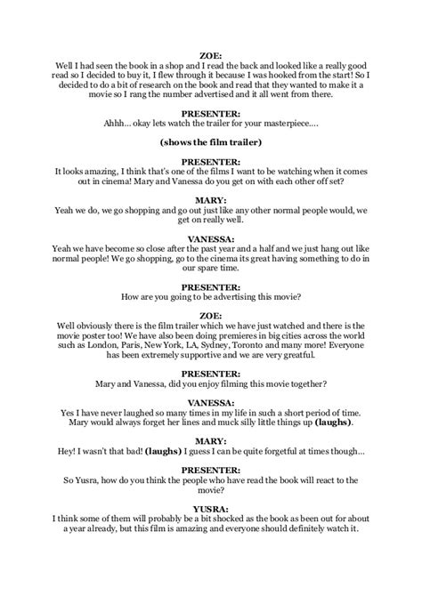 tv script template for pages tv script template templates data