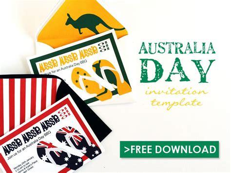 australia day invitation template  print