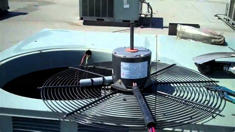 heat pump fan motor hvac rheem condenser fan motor change out youtube