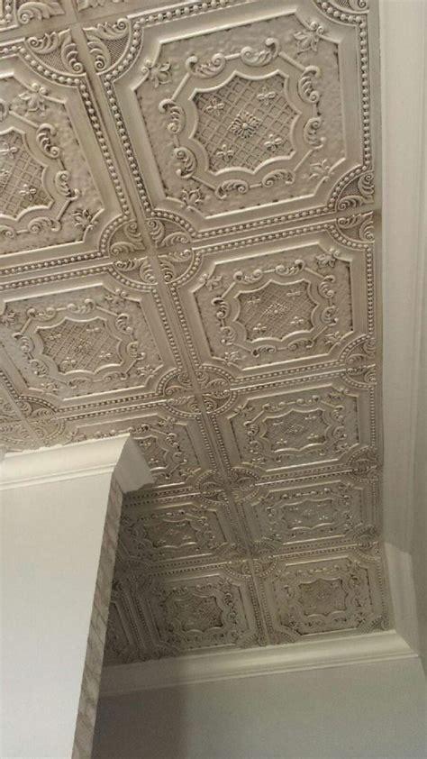 elizabethan shield faux tin ceiling tile