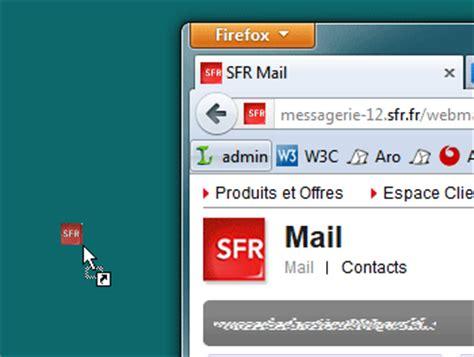 cr 233 er un raccourci vers la messagerie sfr sur le bureau de windows