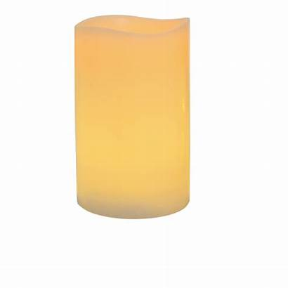 Candles Led Pillar Wax Ivory Battery