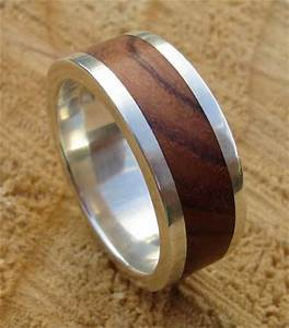 men39s wood inlay silver wedding ring love2have in the uk With wooden mens wedding rings