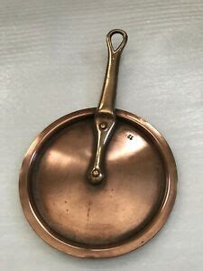 original  french gourmet chef copper pan pot lollipop lid ebay