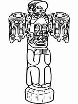 Totem Coloring Globalpinner Educationwallpaper Native sketch template
