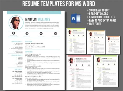 13258 creative resume templates for microsoft word creative 2 in 1 resume template for ms word meylah