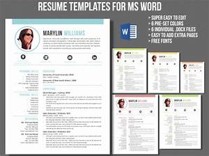 Microsoft Word Cover Letter Templates Creative 2 In 1 Resume Template For Ms Word Meylah
