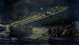 Sinking Of The Titanic. The Lifeboats Photograph