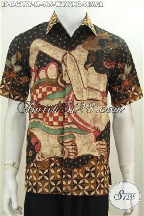 Kalung Motif Semar hem batik wayang premium motif semar baju batik pria