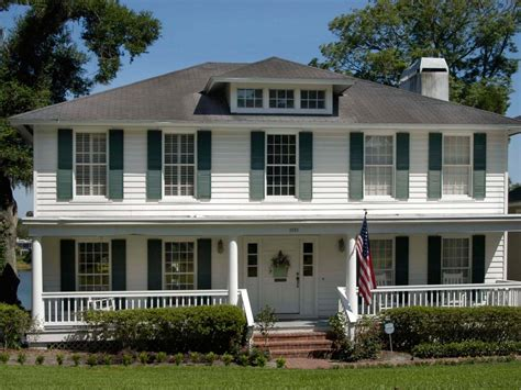 colonial front porch designs colonial style hgtv
