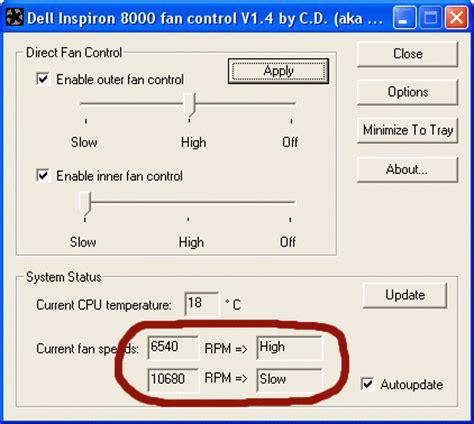 fan speed control software dell inspiron inspiron latitude precision fan control faq