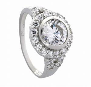 luxurious 2 carat bezel set engagement ring for her With bezel set wedding ring