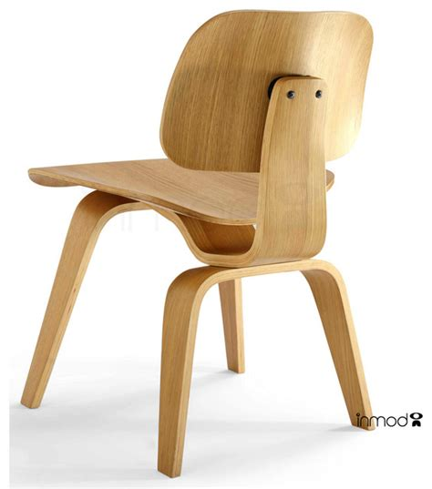 plywood dining chair with wood legs replica modern