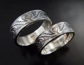 celtic wedding ring sets wedding ring set silver celtic wedding by argentumarcana