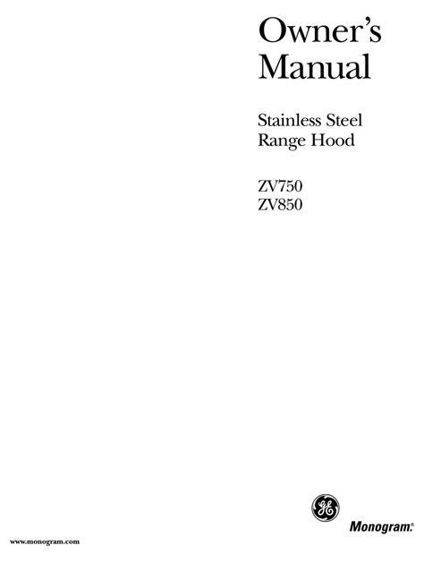 ge monogram zv owners manual   manualslib