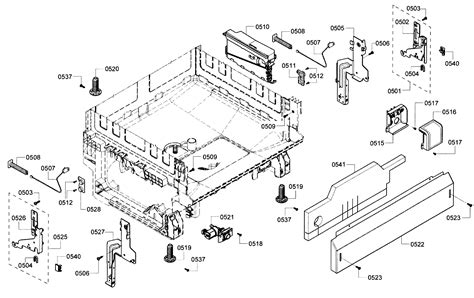 bosch dishwasher parts model shearfuc sears partsdirect