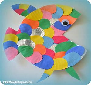the rainbow fish book activities crafts and snack ideas With paper plate fish template