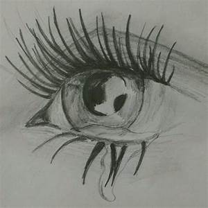 Crying eye sketch | Tears | Pinterest | Eyes, Sketches and ...