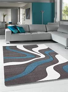 Gris Et Bleu : tapis diamond vagues gris de la collection unamourdetapis ~ Dode.kayakingforconservation.com Idées de Décoration