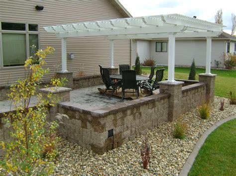 pictures of raised patios raised patio under pergola oasis landscapes