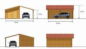 Dimension Garage 1 Voiture : garage bois et abris voiture vendu en kits ~ Dailycaller-alerts.com Idées de Décoration