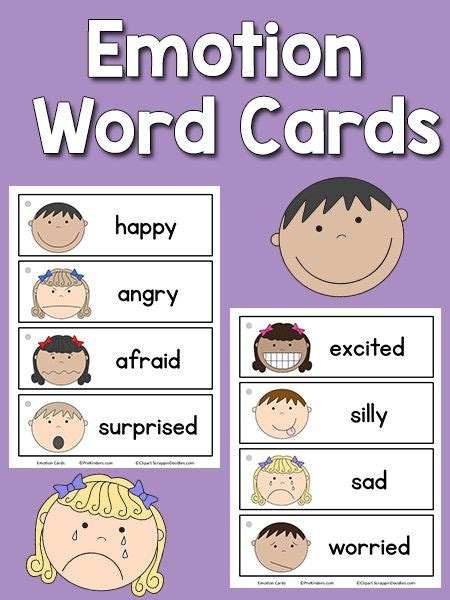 emotion word cards toddler emotion words emotions